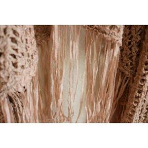 Chico's Sweaters - Chicos Blush Artisan Fringe Sloane Cardigan Sz 2